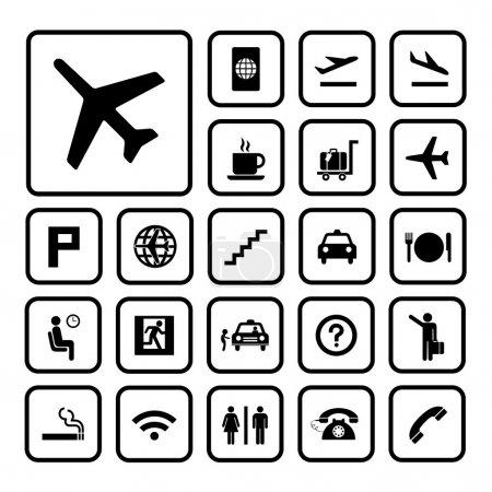 ensemble d'icônes aéroport