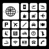 Basic icon set for airport