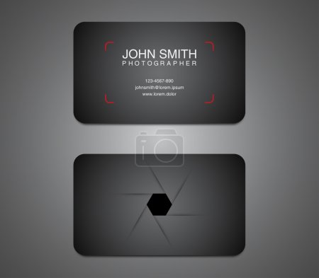 Illustration for Modern photographer business card template - Royalty Free Image