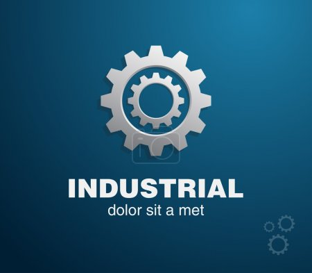 Illustration for Vector industrial gears design template - Royalty Free Image