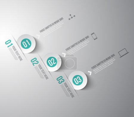 Illustration for Modern infographic template for step presentation - can be used for business design or workflow layout - Royalty Free Image