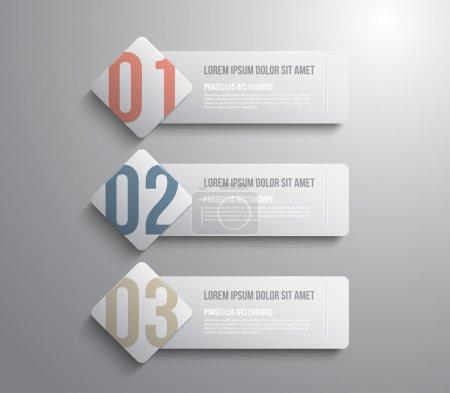 Illustration pour Modèle trois bannières pour la presentation de l'étape - image libre de droit