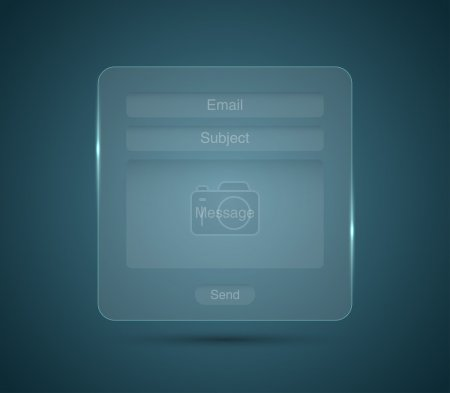 Glass ,glossy email form interface for websites
