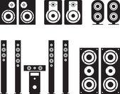Woofer loudspeaker surround system hi-fi hi-end illustration