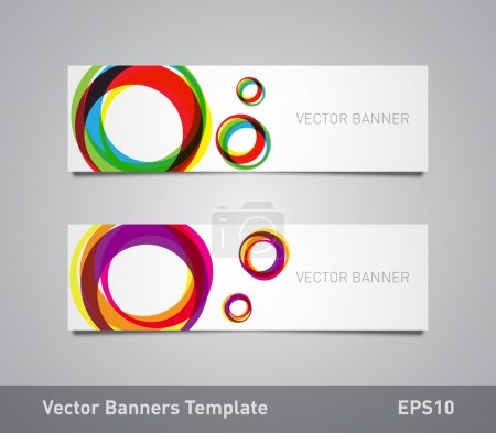 Flyers template with colorful circular shapes background