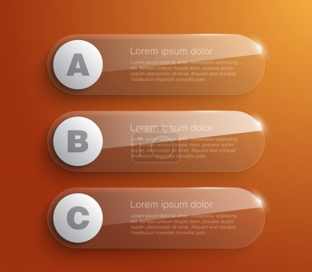 Set of glossy banners with shiny lights for business design