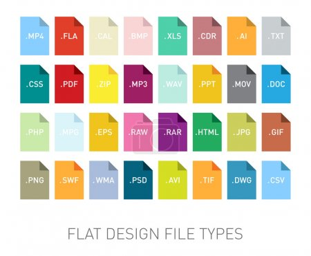 File type extension icons