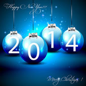 Happy New Year 2014 - Illustration
