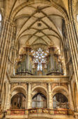 Organ at Cathedral of st. Vitus in Prague, Czech Republic. Hdr i
