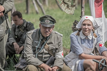 German officer and a nurse