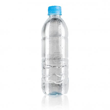 Photo for Water bottle isolated on white background - Royalty Free Image