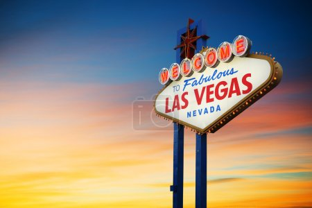 Las Vegas Sign at sunset...
