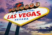 Famous Las Vegas Welcome Sign at sunset