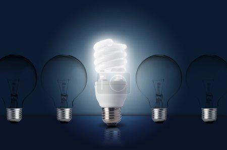 One Light bulb turn on