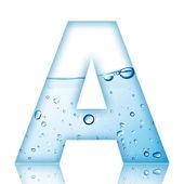 Water bubble alphabet letter. Letter A