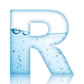 Water R Letter