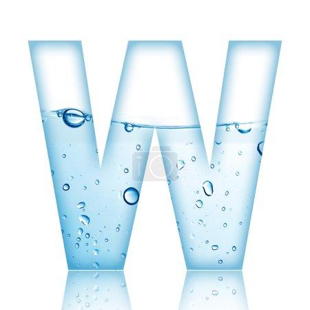 Buchstabe für Wasserblase. Buchstabe w