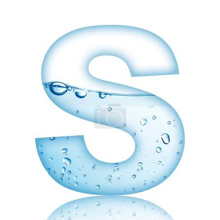 Photo pour L'eau et l'eau bulle alphabet lettre. lettre s - image libre de droit
