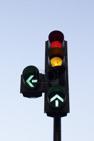 Colourful traffic light