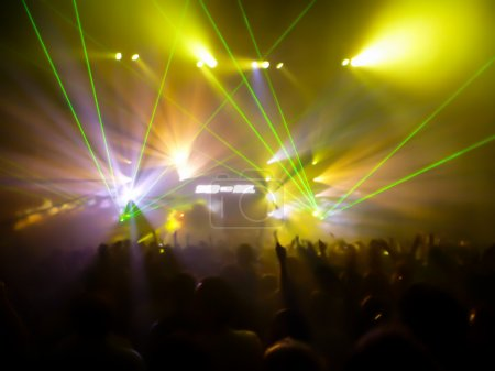 Lights and Lasers in a club