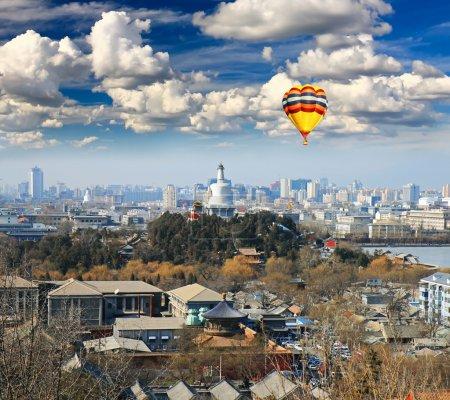Аэрофотосъемка города Пекин