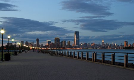 The Jersey City skyline