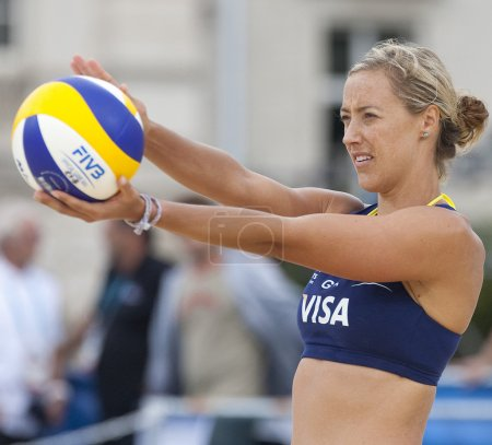 Denise Johns (GBR) during the FIVB International Beach Volleyball tournament