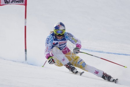 FRA: Alpine skiing Val D'Isere Women DH trg1. Lindsey Vonn