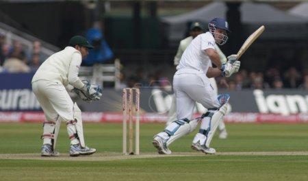 Cricket . England vs Bangladesh 1st test day 1. Andrew Strauss