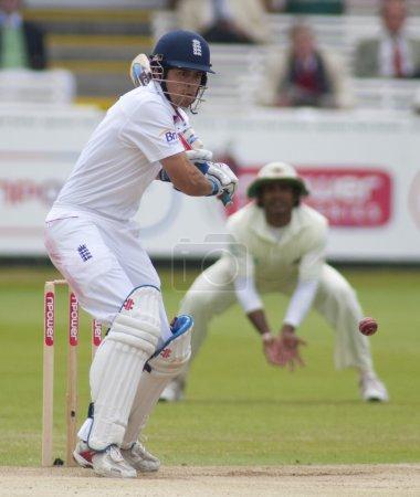 Cricket. England vs Bangladesh 1st test day 3. Alaistair Cook