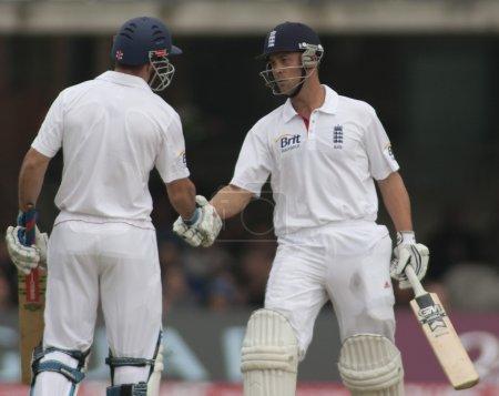 Cricket. England vs Bangladesh 1st test day 1.Andrew Strauss, Johnathon Trott