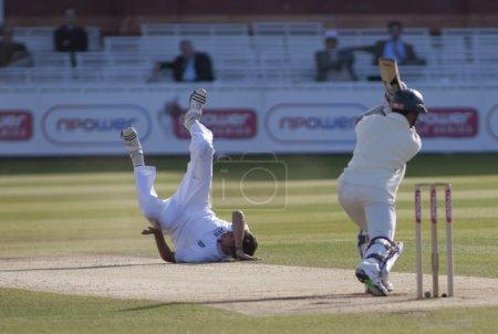 Cricket. England vs Bangladesh 1st test day 3. Steve Finn, Mohammad Ashraful