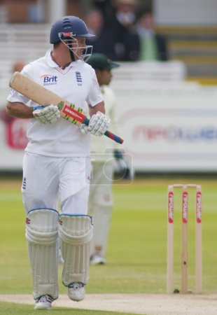 Cricket. England vs Bangladesh 1st test day 3. Andrew Strauss