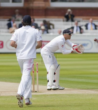 Cricket. England vs Bangladesh 1st test day 3. Matt Prior