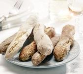 Bread breakfast on a plate