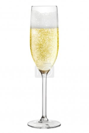 Photo for Champagne flute isolated on a white background - Royalty Free Image