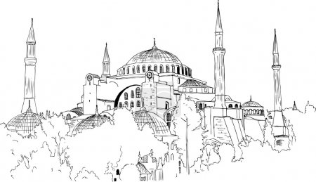 Quick Sketch of Aya Sofya Mosque