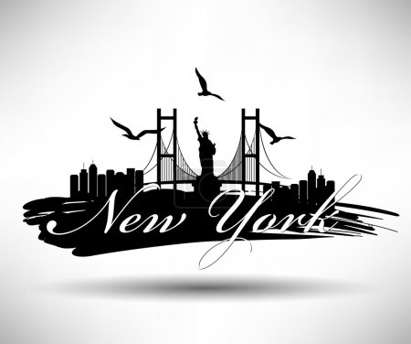 Illustration for New York City Typography Design - Royalty Free Image