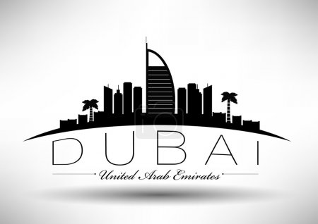 Modern Dubai City Skyline Design