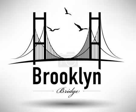 Brooklyn Bridge Typographic Design