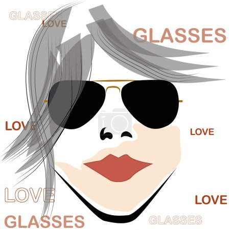 Retro woman with glasses