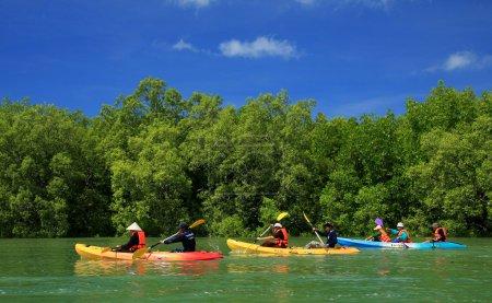 Kayaking in the thai - kayaking at krabi thailand - kayaking