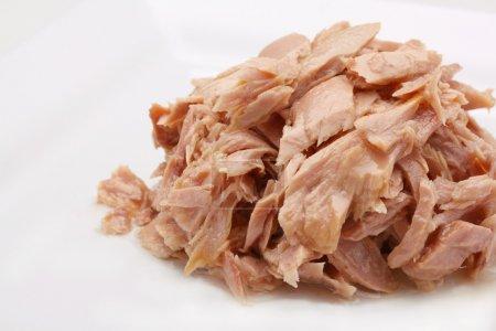 Tuna fish in oil, canned food.