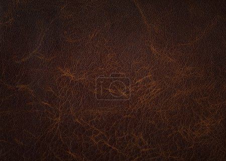 Photo for Brown leather texture closeup - Royalty Free Image