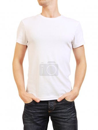 Image of young man in white t-shirt