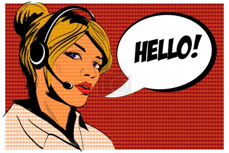 Girl operator call center Comics
