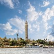 Cairo Tower, Cairo on the Nile in Egypt with the N...