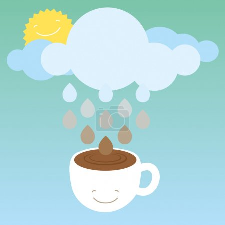 Illustration for Optimistic vector illustration with cute coffee cup character. Layered file EPS 10 - Royalty Free Image