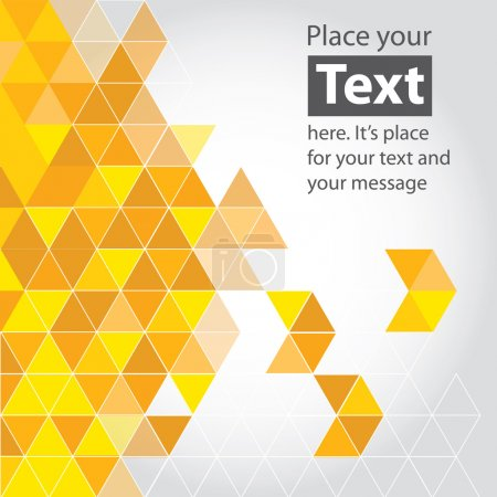 Illustration for Yellow and orange cubic geometric background. Design elements. Layered file EPS 10 - Royalty Free Image