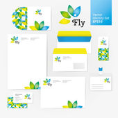 Creative set with envelope blank business card and disk